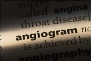"Printed word ""angiogram."" Brookhaven Heart in Patchogue, New York."