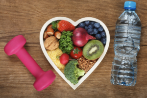 Healthy diet and exercising. Brookhaven Heart.