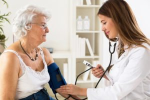 Combat the symptoms of high blood pressure with regular doctors visits.